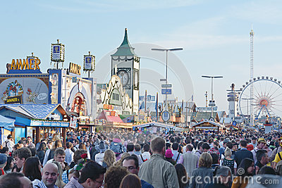 Crowds at the Oktoberfest Editorial Photography