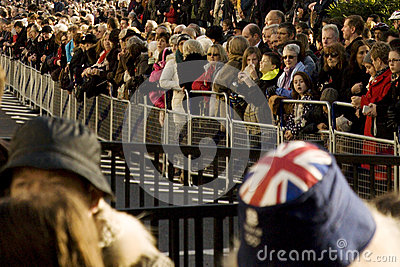 Crowds of Remembrance Day, 2012 Editorial Photo