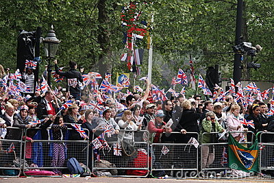 Crowds at Royal Wedding 2011 Editorial Photo