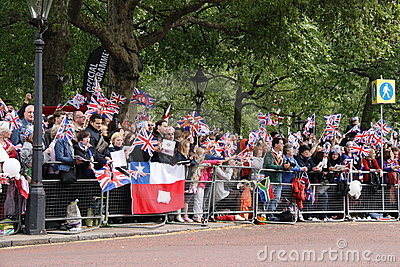 Crowds at Royal Wedding 2011 Editorial Image