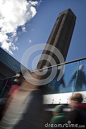 Crowds at Tate Modern, London