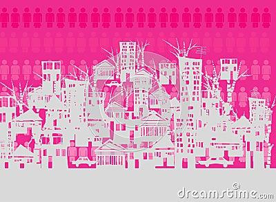 Crowed city