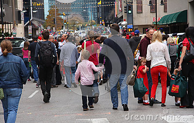 Crowed people Editorial Stock Image