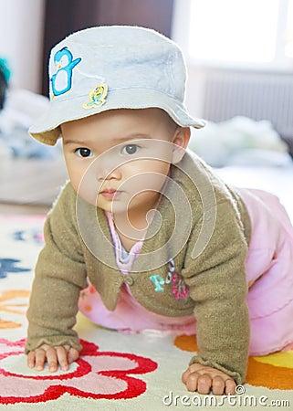 Crawling Little Asian Girl