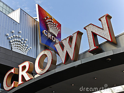 Crown Casino in Melbourne Editorial Photography