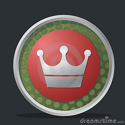 Crown dark badge