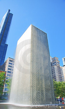 Crown Fountain (Chicago) Editorial Stock Image