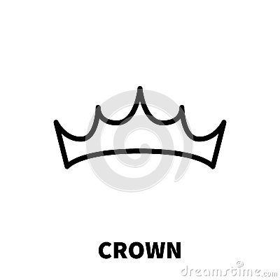 Crown icon or logo in modern line style. Vector Illustration