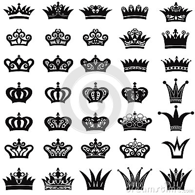 Free Crown Icon Set Royalty Free Stock Photography - 40231077