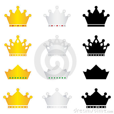 Free Crown Icons Set Stock Photos - 19821563