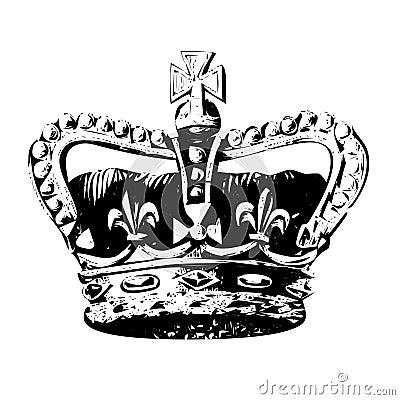 Crown of king vector