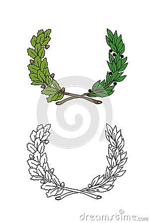 Crown of leaves