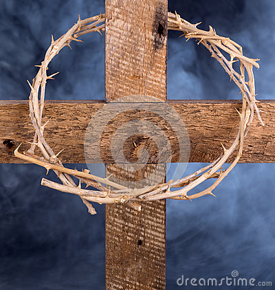Free Crown Of Thorns On A Cross Royalty Free Stock Images - 67321749