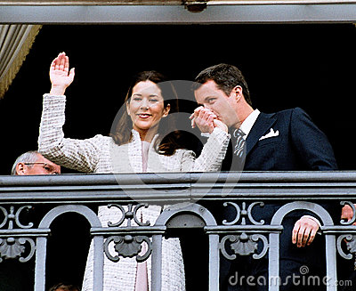 CROWN PRINCESS MARY & CROWN PRINCE FREDERIK Editorial Stock Image
