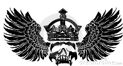 Crown Skull On A Wing.