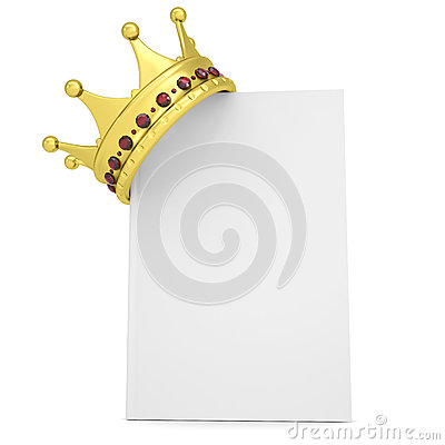Crown on the white book