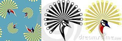 Crowned crane   background