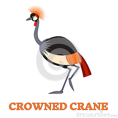 Free Crowned Crane Line Art Icon Royalty Free Stock Image - 67463046
