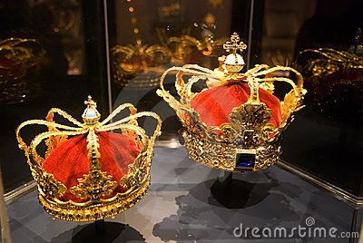 Crowns. Rosenborg. Copenhagen Editorial Stock Photo