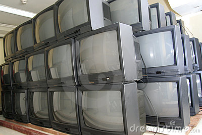 Crt tv in warehouse