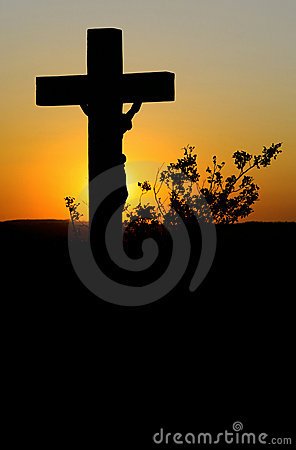 Crucifix afterglow.