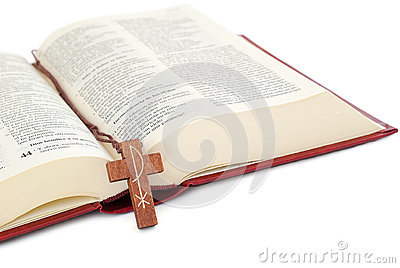 Crucifix on a Bible