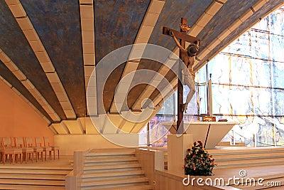 Crucifix in Padre Pio Pilgrimage Church, Italy