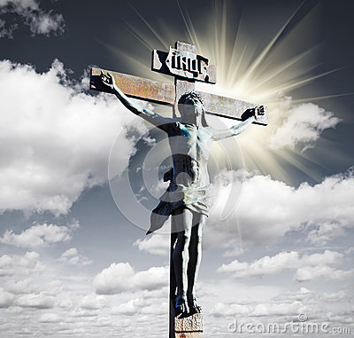 Crucifixion of Jesus Christ in the sky