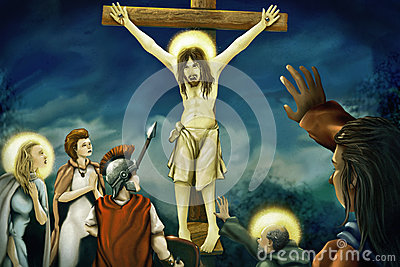 Crucifixion Of Jesus - Digital Painting