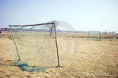 Crude football pitch