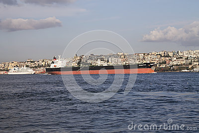 Crude oil tanker Editorial Stock Image