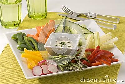 Crudites salad.