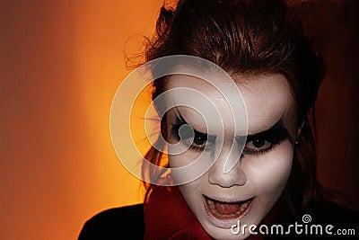 Cruel girl with dark eyes