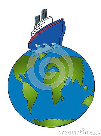 Cruise Around The World Royalty Free Stock Image - Image ...