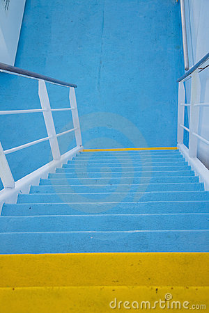 Cruise boat deck stairs
