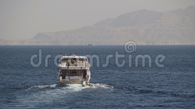 Cruise Boat Floats In The Red Sea Stock Footage - Video of ...