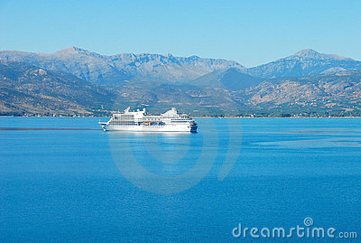 Cruise boat in the sea of greece