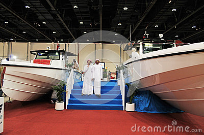 Cruise Boat show at Abu Dhabi International Huntin Editorial Photography