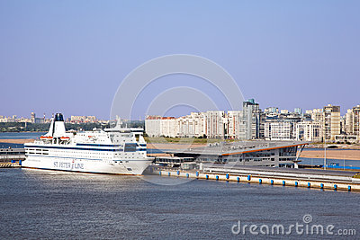 Cruise ferry Princess Maria, docked at port Editorial Photography