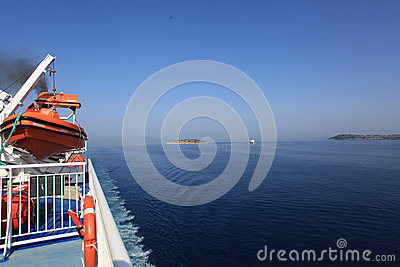 Cruise in the Ionian Sea Editorial Stock Image
