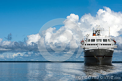 Cruise liner on the Amazon