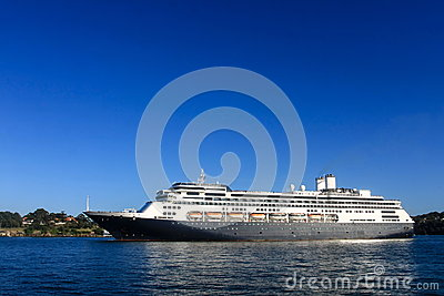 Cruise Liner and blue sky