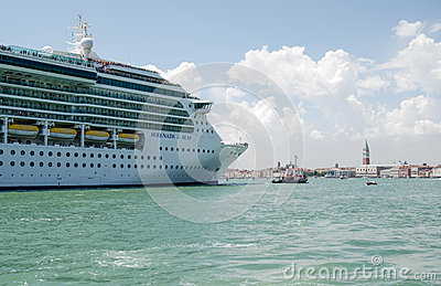 Cruise Liner entering Venice Editorial Image