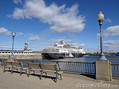 Cruise liner in harbor
