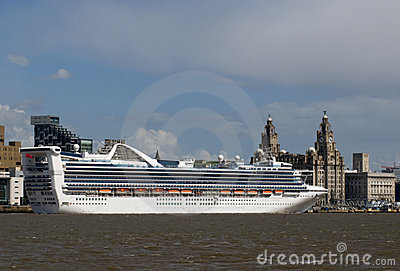 Cruise Liner in Liverpool