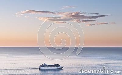 Cruise liner at sea
