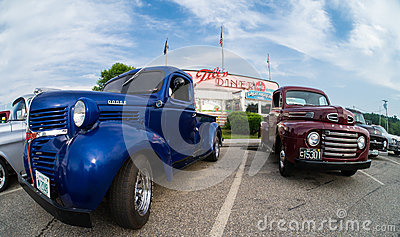 Cruise Night at the Tilt n Diner Editorial Photography