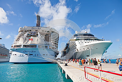 Cruise Port in St. Maarten Editorial Stock Image