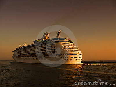 Cruise on sea