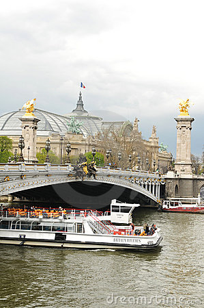Cruise on Seine Editorial Photography